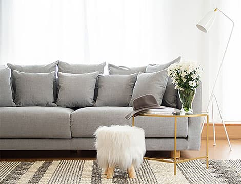 IKEA Stockholm 2017 Sofa Covers Madison Ash Cotton Blends Couch Slipcover Front