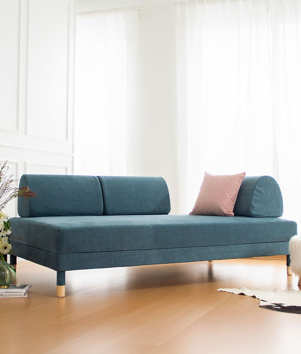 IKEA Flottebo Sofa Covers Madison Teal Cotton Blends Couch Slipcover
