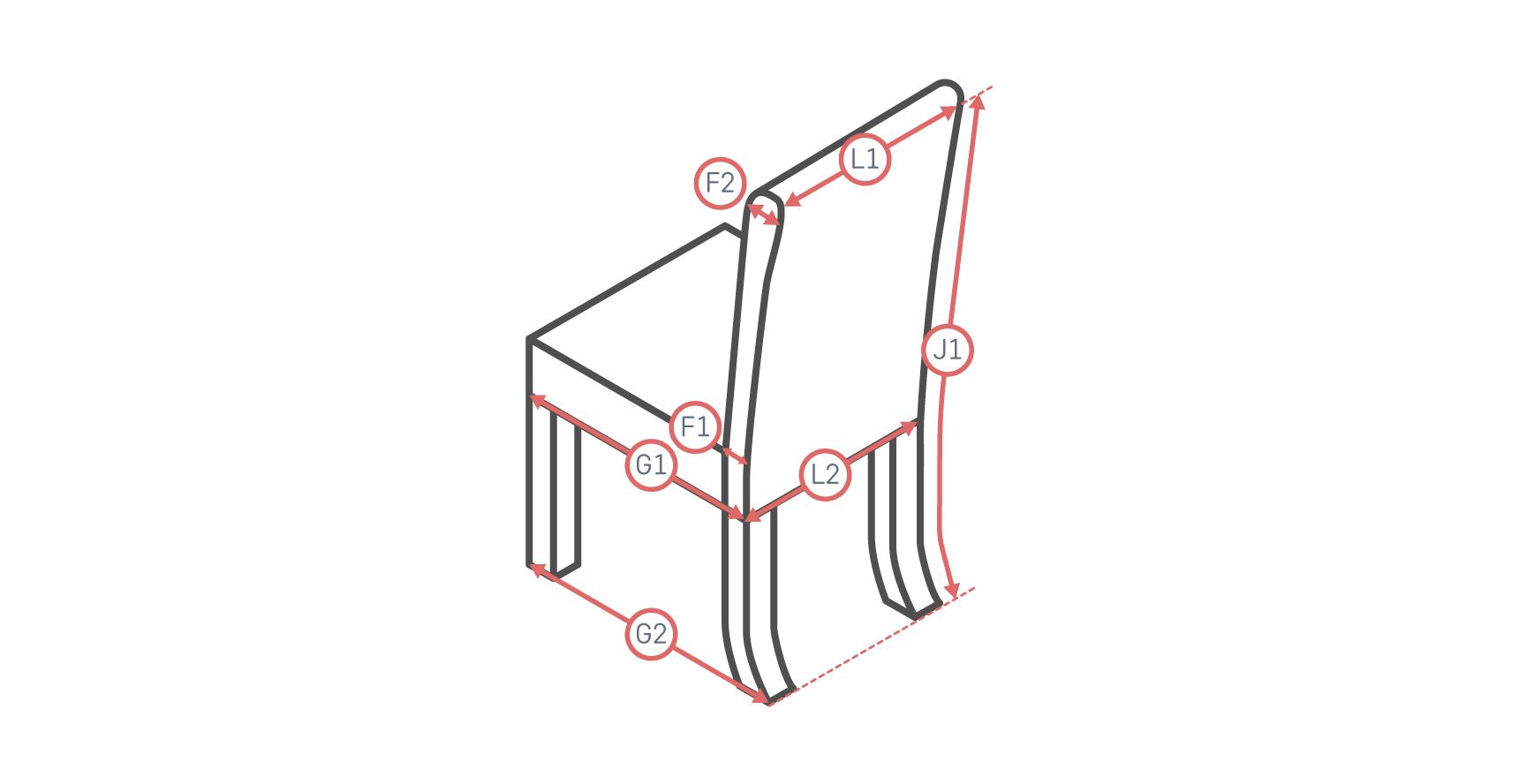 Long-Skirt Dining Chair Slipcover