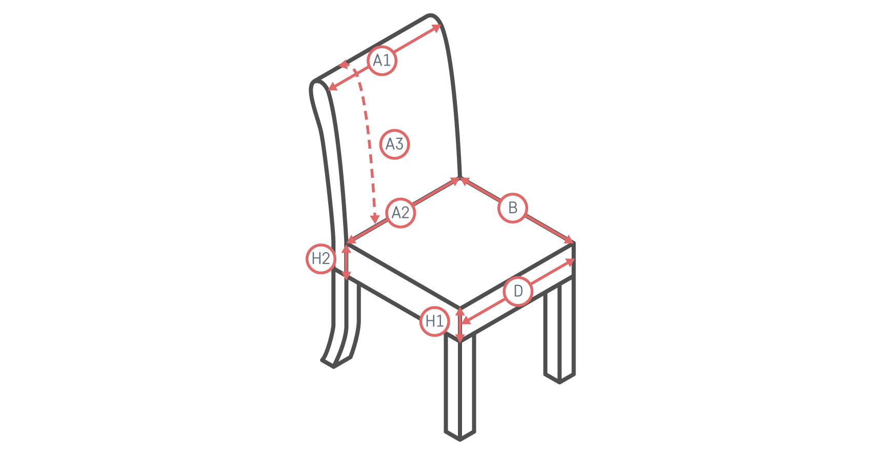 Snug fit Dining Chair Slipcover