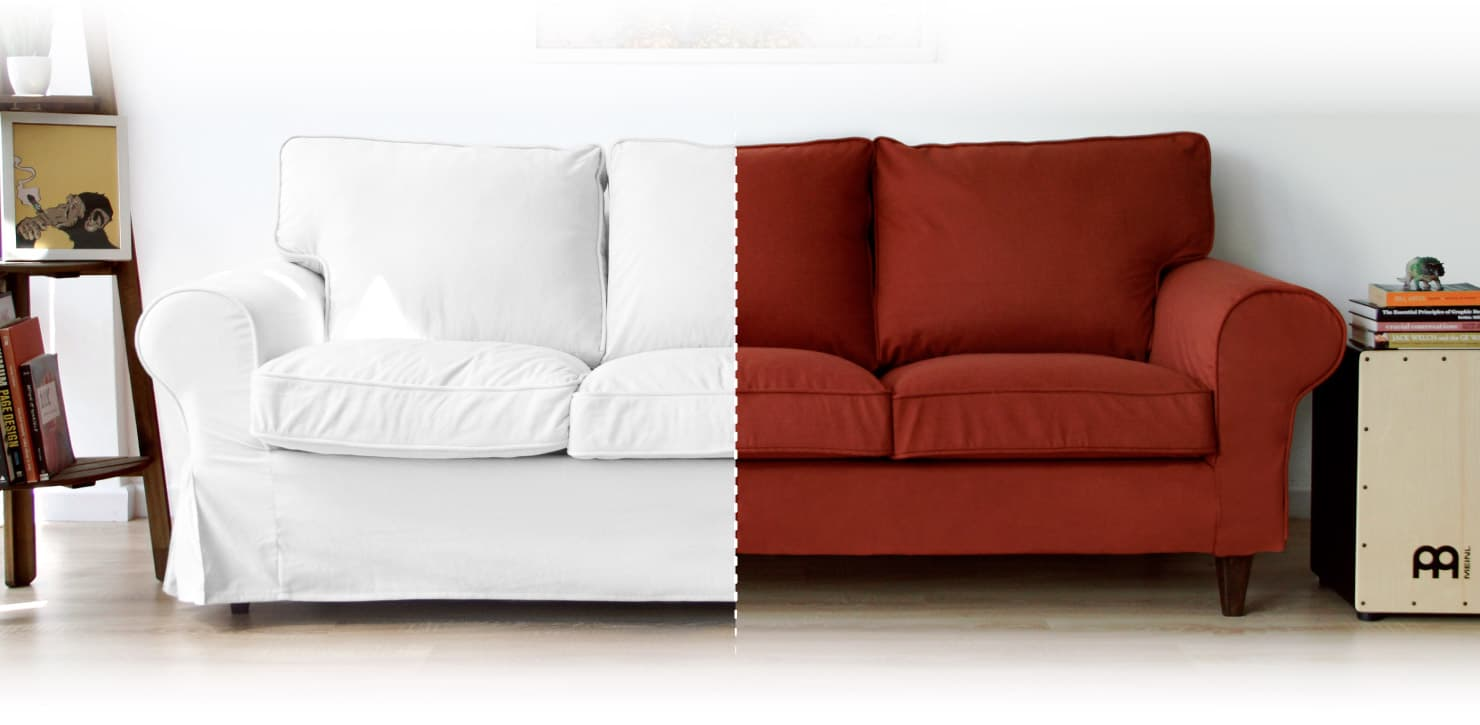 Customised Classic Slipcovers or Snug Sofa Covers for an IKEA Ektorp 3 Seater Sofa, by Comfort Works