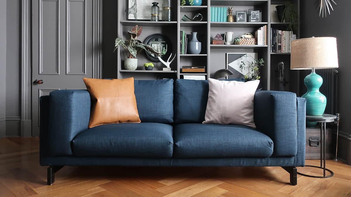 Nockeby 2er Sofa Bezug mit Récamière Links