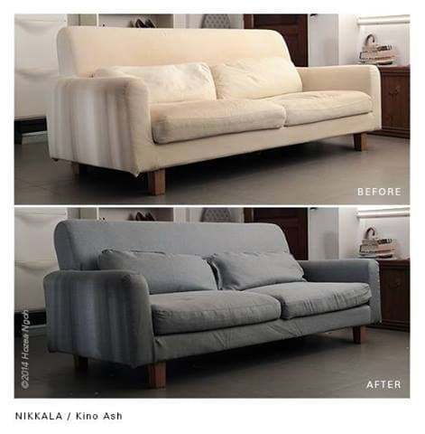 Sofa Bezug nikkala 3er sofabezug klettband mit widerhaken