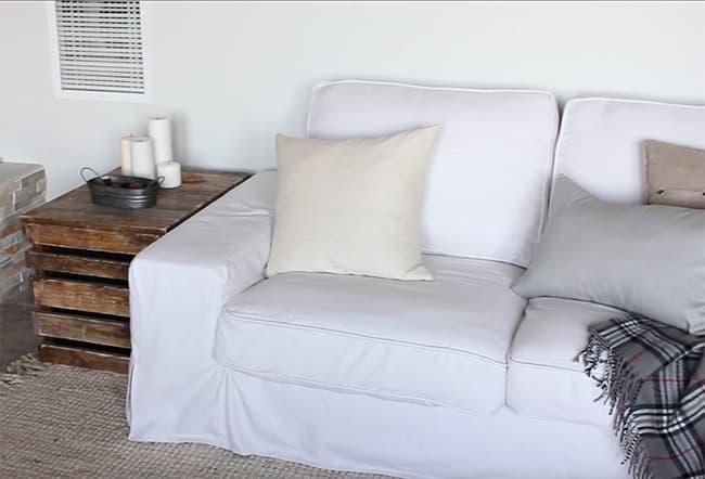 Kivik 3 Seater Long Skirt Sofa Cover