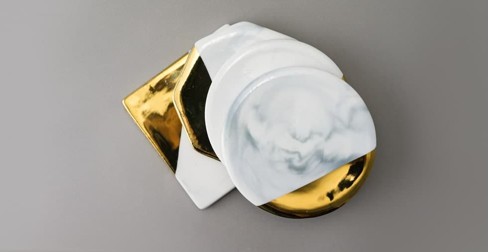 Dipped Gold Marble Coasters