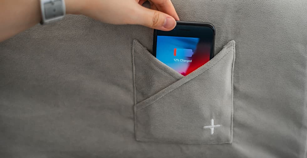 Customization: Built-in Pocket for Wireless Charger