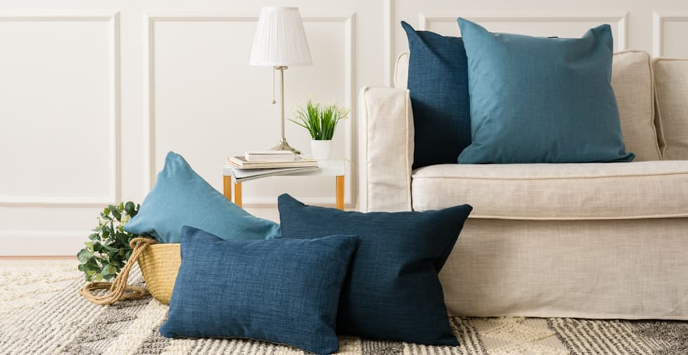 Set of 3, Ocean Deep Cushion Covers