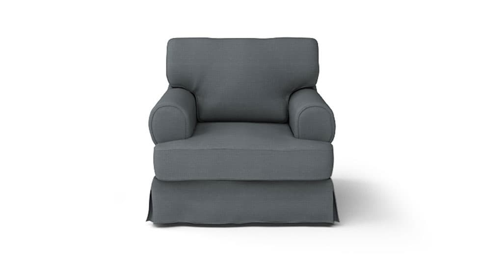 IKEA Barkaby Armchair Covers Kino Charcoal Heavy Duty Couch Slipcover