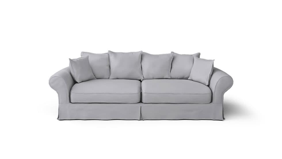 IKEA Backamo Sofa Covers Gaia Fog Panama Cotton Couch Slipcover