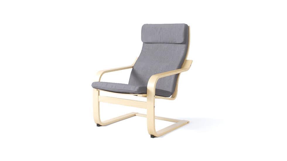 IKEA Poang Sesselbezug Kino Charcoal