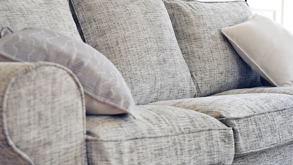 Pottery Barn Sofabezug mit runden Armlehnen Nomad Grey Baumwollmischung