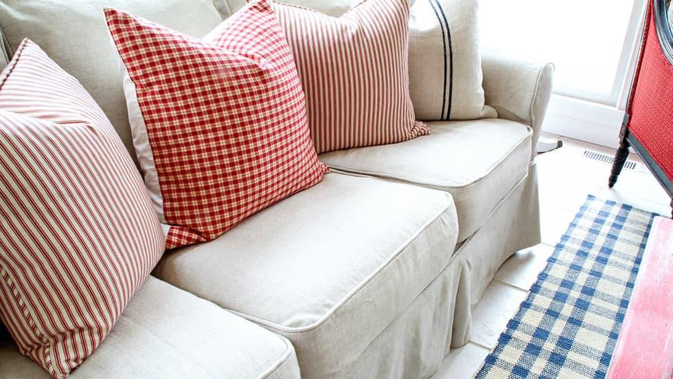Pottery Barn PB Basic Sofabezug Liege Biscuit Leinenmischung