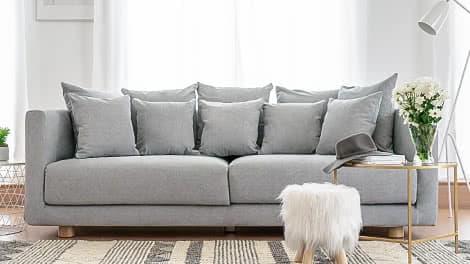 IKEA Stockholm 3er Sofabezug aus Madison Ash Baumwolle