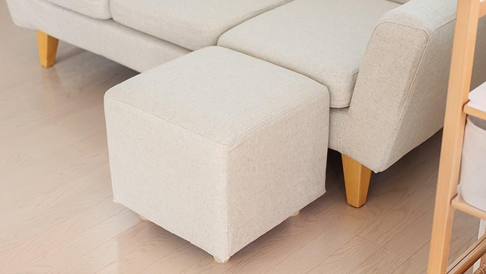 Custom Ottoman Slipcovers Kino Natural Heavy Duty Couch Slipcover 2