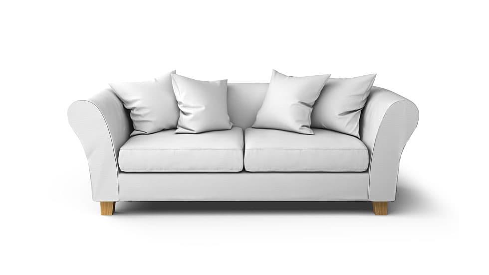 IKEA Backa Sofa Covers Gaia White Panama Cotton Couch Slipcover