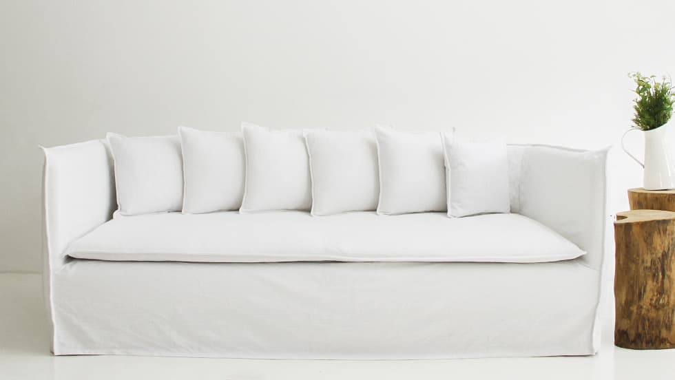 IKEA Sofa Covers Soderhamn 3 Seater Liege Eggshell Linen Blends Couch Slipcover 2