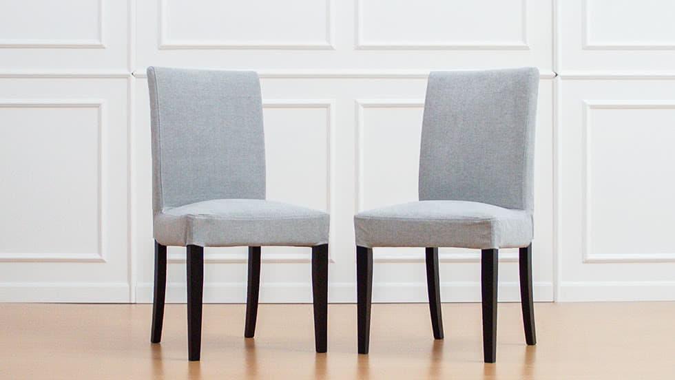 IKEA Henriksdal Stuhlbezüge aus Madison Ash Baumwolle