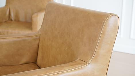 IKEA Nils Stuhlbezüge aus Savannah Saddle Bycast-Leder