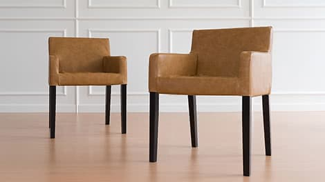 IKEA Dining chair Covers Nils 1 Seater Savannah Saddle Vegan Leather Couch Slipcover