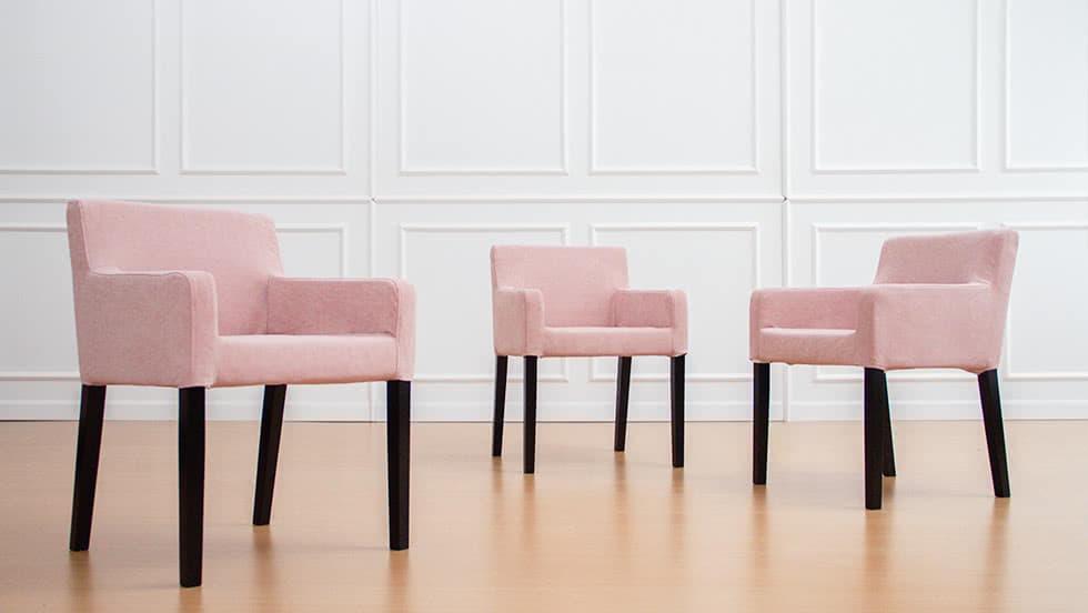 IKEA Nils Stuhlbezüge aus Madison Rose Baumwolle