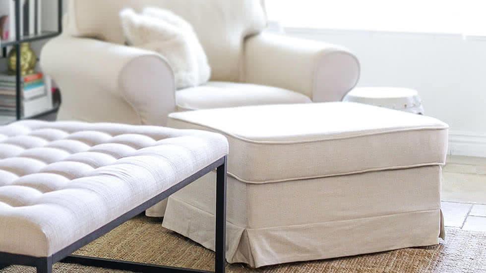 Housse de Repose-pieds IKEA | Couvertures d'Ottaman personnalisées