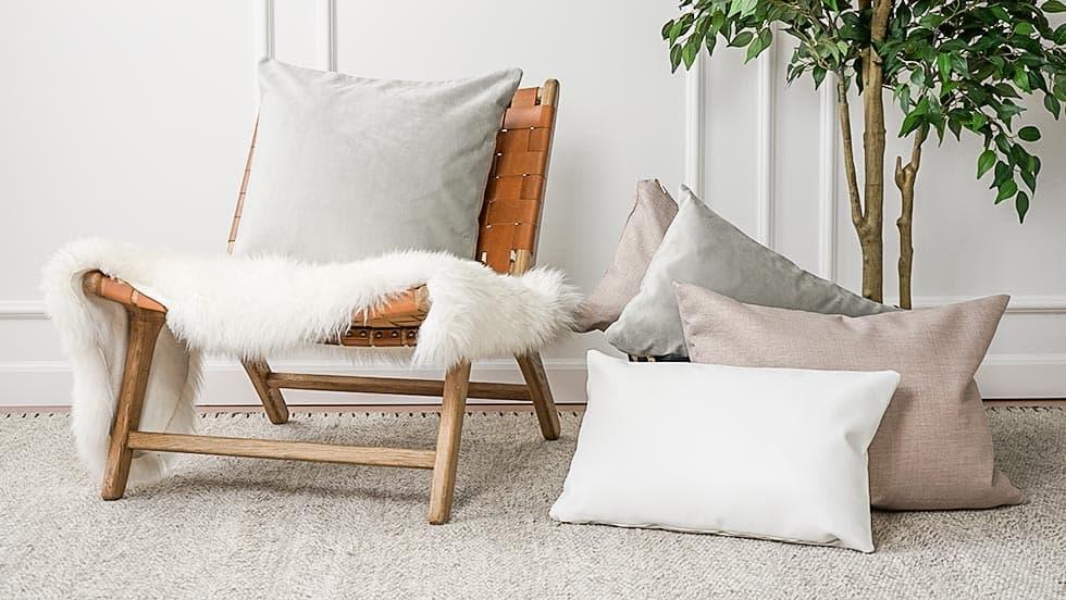 IKEA Kissenbezüge Leder Leinen Baumwole Samt