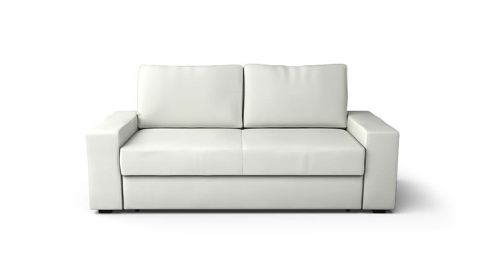 IKEA Villasund Sofa Covers Modena White Bycast Leather Couch Slipcover