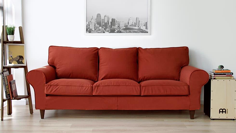 Maßgeschneiderter Sofabezug aus Shire Rust Wolle