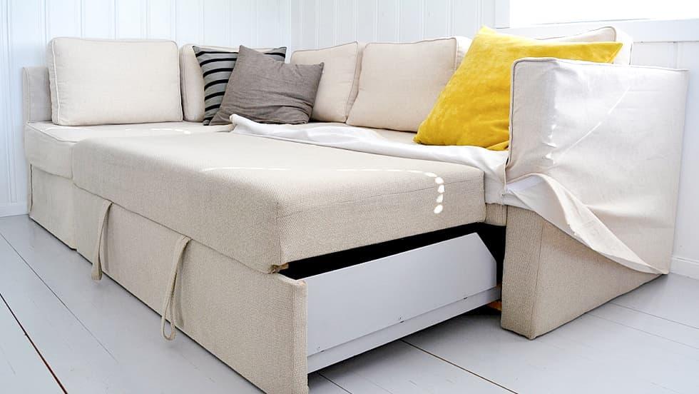 IKEA Fagelbo Schlafsofabezug Liege Biscuit Leinenmischung