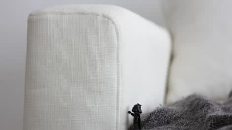 Darth Vader Resting On The IKEA Armrest Protectors Cover Liege Eggshell  Linen Blends Couch Slipcover