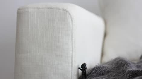 Darth Vader auf einen IKEA Armlehnenschoner aus Liege Eggshell Leinenmischung