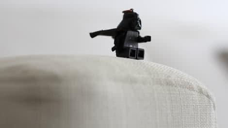 Darth Vader auf IKEA Armlehnenschonern aus Liege Eggshell Leinenmischung