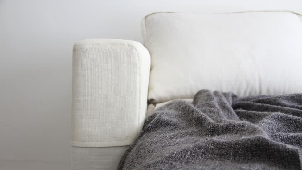 IKEA Armlehnenschoner Liege Eggshell Leinenmischung