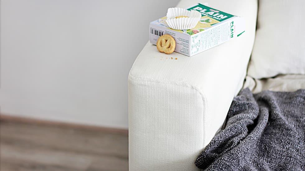 IKEA Manstad Armlehnenschoner Liege Eggshell Leinenmischung