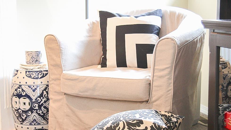 Maßgeschneiderter Sesselbezug aus Lino Brushed Leinen