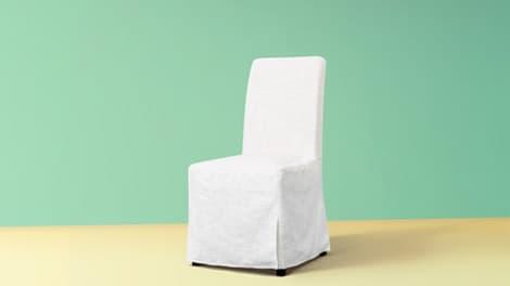 Maßgeschneiderte Stuhlbezüge aus Luna Flax Leinen
