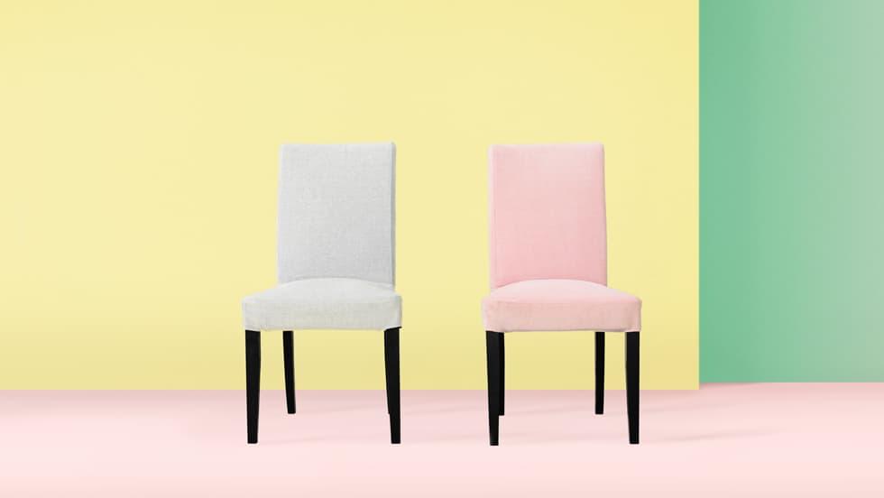 Maßgeschneiderte Stuhlbezüge aus Madison Ash Madison Rose Baumwolle