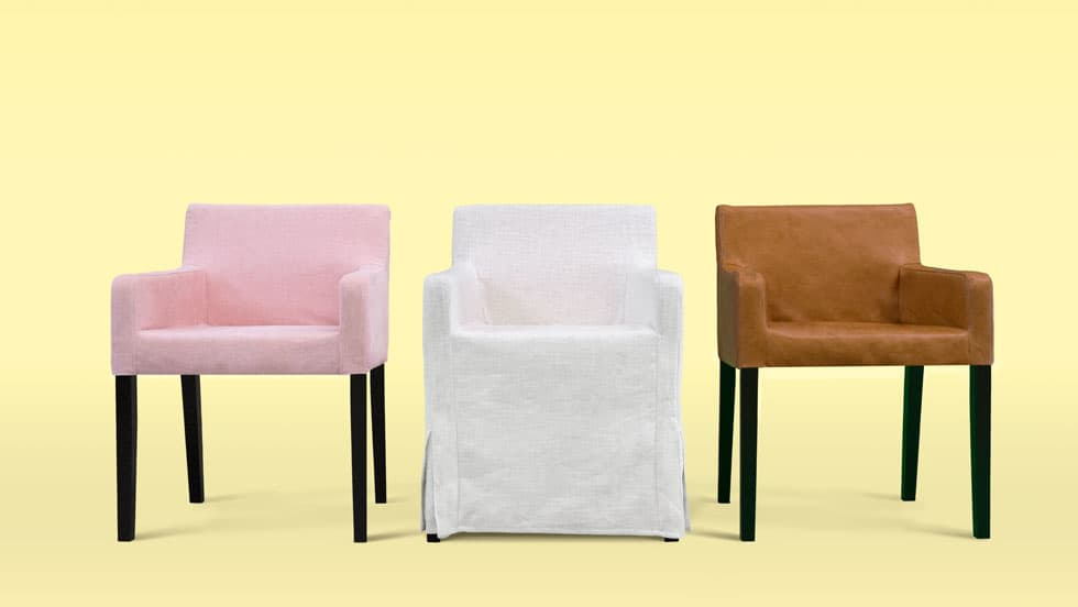 Custom Dining Chair Covers Madison Rose Luna Flax Savannah Saddle Panama  Cotton Leather Linen Blends Couch