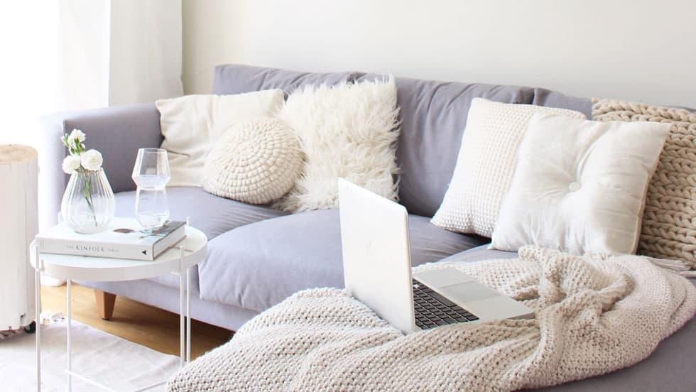 IKEA Norsbog Sofabezug Shire Steel Wolle