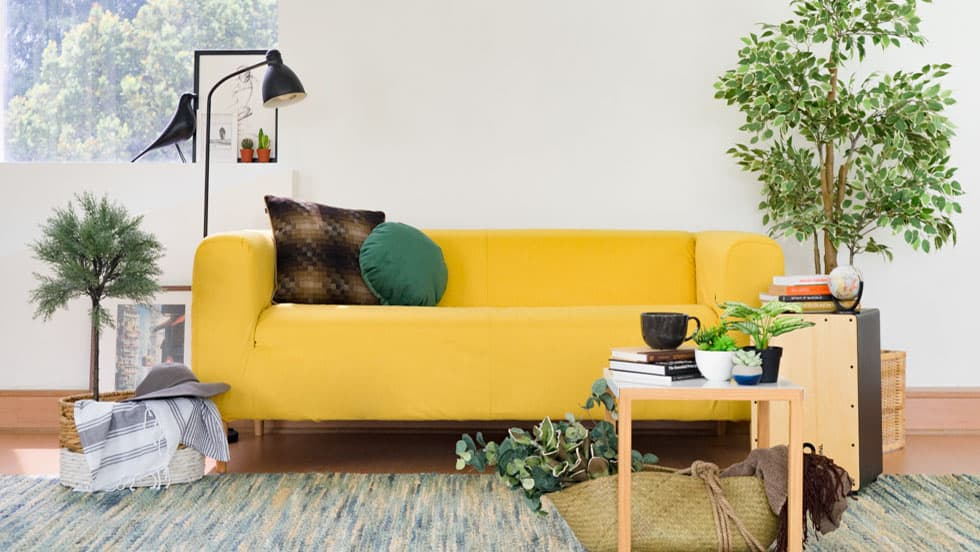 IKEA Klippan Sofabezug aus Shire Mustard Wolle
