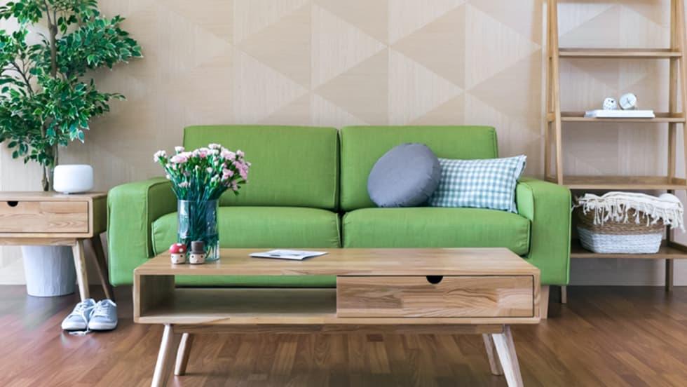 Muji Sofa mit breiten Armlehnen