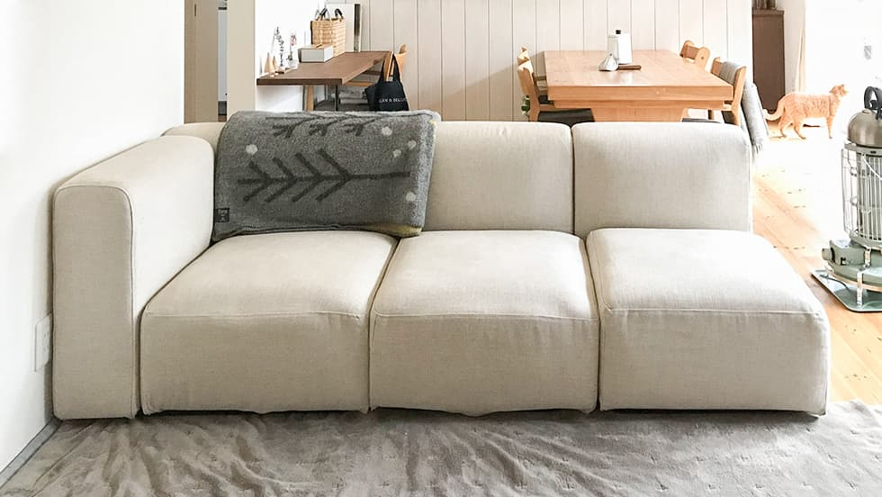 Muji Sofa Covers Unit Sofa Liege Biscuit Linen Blends Couch Slipcover