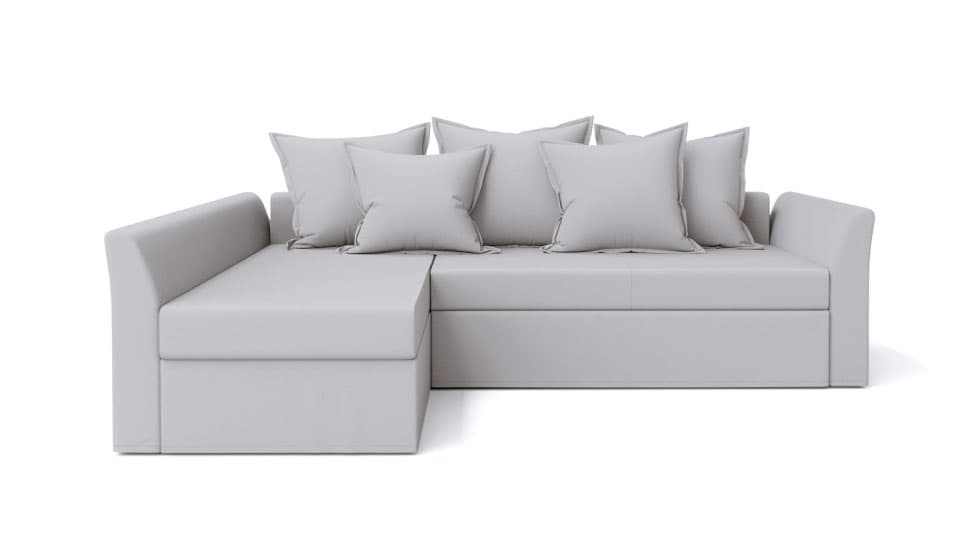 IKEA Holmsund Sofa Covers Gaia Fog Panama Cotton Couch Slipcover