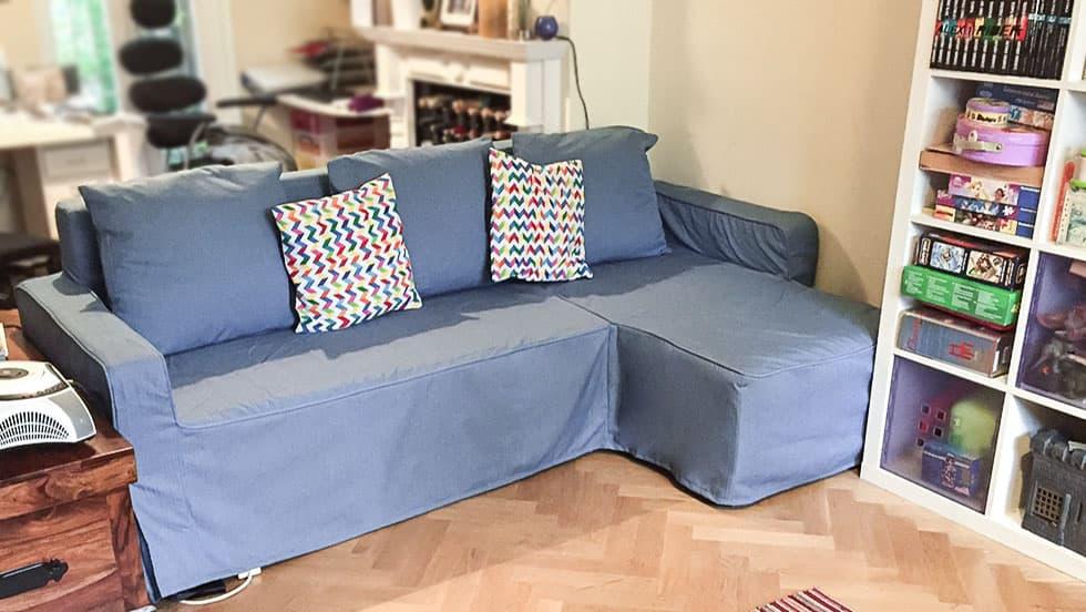 IKEA Lugnvik Sofabezug Herringbone Denim Baumwollmischung