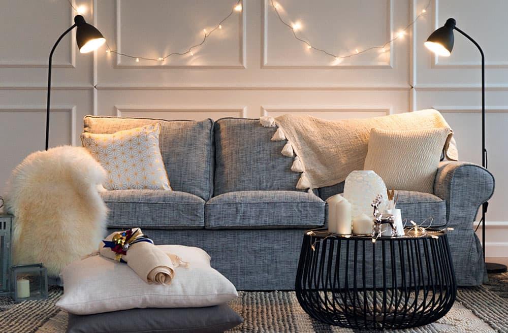 Housse de canap canap lit et fauteuil ektorp for Housse causeuse ikea