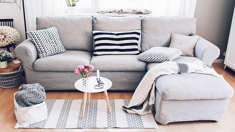 IKEA Ektorp 3er Sofabezug aus Kino Ash