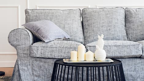 IKEA Ektorp 3er Sofabezug aus Nomad Grey Baumwollmischung