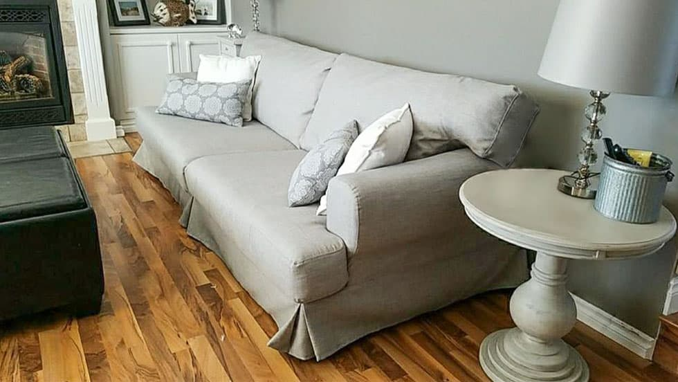 IKEA Hovas Sofa Covers Kino Ash Cotton Blends Couch Slipcover