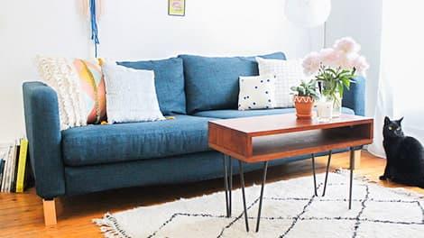 IKEA Karlstad 3er Sofabezugr Kino Denim