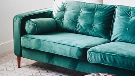 IKEA Karlstad 3er Sofabezug Rouge Emerald Samt